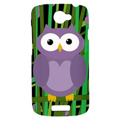 Purple owl HTC One S Hardshell Case