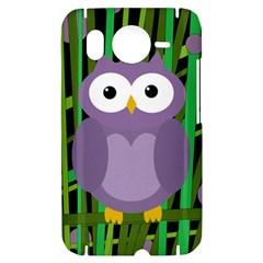 Purple owl HTC Desire HD Hardshell Case