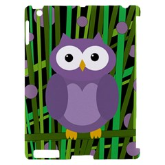 Purple owl Apple iPad 2 Hardshell Case (Compatible with Smart Cover)