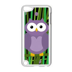 Purple owl Apple iPod Touch 5 Case (White)