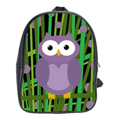 Purple owl School Bags (XL)