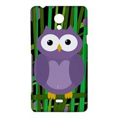Purple owl Sony Xperia T