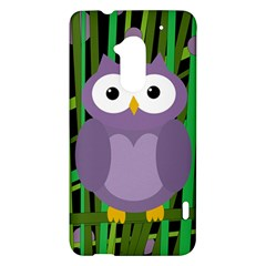 Purple owl HTC One Max (T6) Hardshell Case