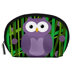 Purple owl Accessory Pouches (Large)