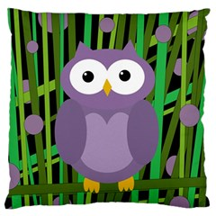 Purple owl Standard Flano Cushion Case (Two Sides)