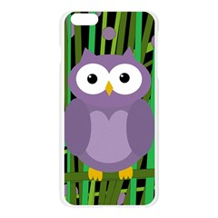 Purple owl Apple Seamless iPhone 6 Plus/6S Plus Case (Transparent)