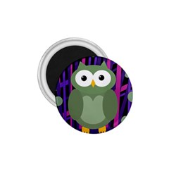Green and purple owl 1.75  Magnets
