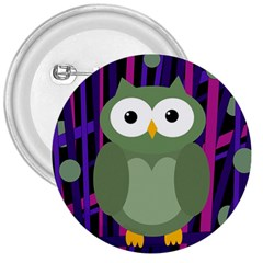 Green and purple owl 3  Buttons