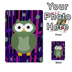 Green and purple owl Multi-purpose Cards (Rectangle)