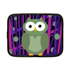Green and purple owl Netbook Case (Small)