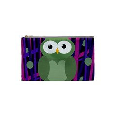 Green and purple owl Cosmetic Bag (Small)