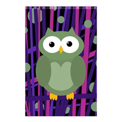 Green and purple owl Shower Curtain 48  x 72  (Small)