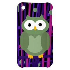 Green and purple owl Apple iPhone 3G/3GS Hardshell Case