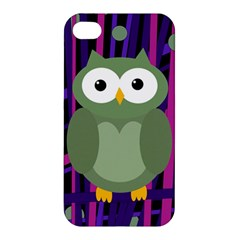 Green and purple owl Apple iPhone 4/4S Hardshell Case