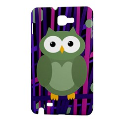 Green and purple owl Samsung Galaxy Note 1 Hardshell Case