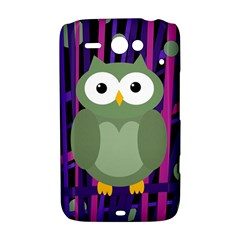 Green and purple owl HTC ChaCha / HTC Status Hardshell Case