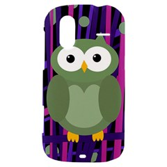 Green and purple owl HTC Amaze 4G Hardshell Case