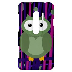 Green and purple owl HTC Evo 3D Hardshell Case