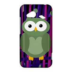 Green and purple owl HTC Droid Incredible 4G LTE Hardshell Case