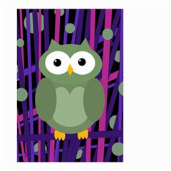 Green and purple owl Small Garden Flag (Two Sides)