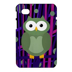 Green and purple owl Samsung Galaxy Tab 7  P1000 Hardshell Case