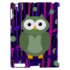 Green and purple owl Apple iPad 2 Hardshell Case (Compatible with Smart Cover)
