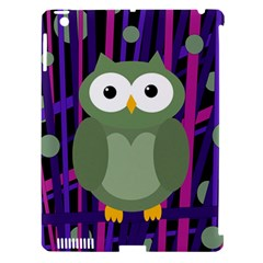 Green and purple owl Apple iPad 3/4 Hardshell Case (Compatible with Smart Cover)