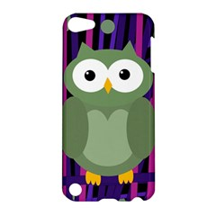 Green and purple owl Apple iPod Touch 5 Hardshell Case