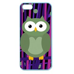 Green and purple owl Apple Seamless iPhone 5 Case (Color)