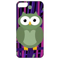 Green and purple owl Apple iPhone 5 Classic Hardshell Case