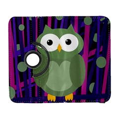 Green and purple owl Samsung Galaxy S  III Flip 360 Case
