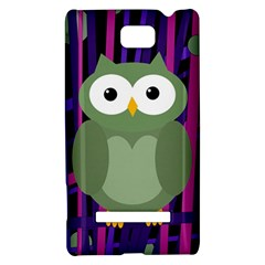 Green and purple owl HTC 8S Hardshell Case