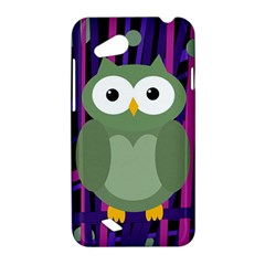 Green and purple owl HTC Desire VC (T328D) Hardshell Case