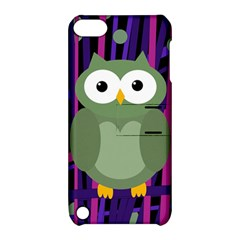Green and purple owl Apple iPod Touch 5 Hardshell Case with Stand