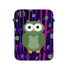 Green and purple owl Apple iPad 2/3/4 Protective Soft Cases