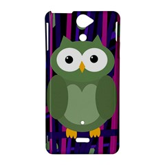 Green and purple owl Sony Xperia V