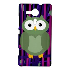 Green and purple owl Sony Xperia SP