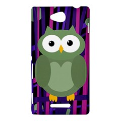 Green and purple owl Sony Xperia C (S39H)
