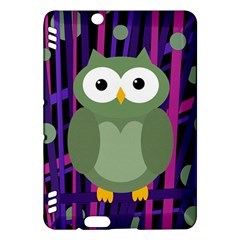 Green and purple owl Kindle Fire HDX Hardshell Case