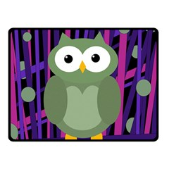 Green and purple owl Double Sided Fleece Blanket (Small)