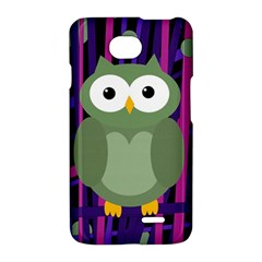 Green and purple owl LG Optimus L70