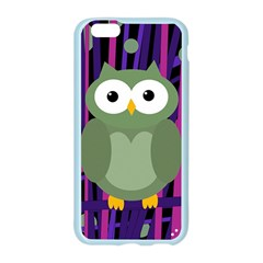 Green and purple owl Apple Seamless iPhone 6/6S Case (Color)