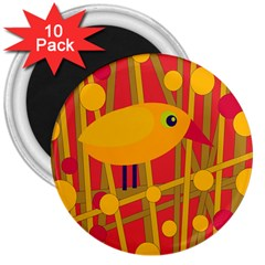 Yellow bird 3  Magnets (10 pack)