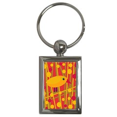 Yellow bird Key Chains (Rectangle)
