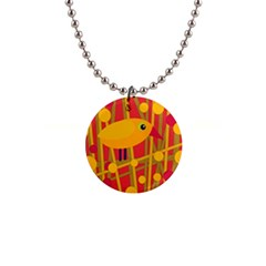 Yellow bird Button Necklaces