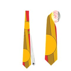 Yellow bird Neckties (One Side)