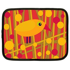 Yellow bird Netbook Case (XL)