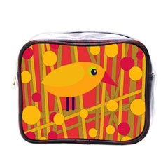 Yellow bird Mini Toiletries Bags