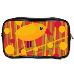 Yellow bird Toiletries Bags 2-Side