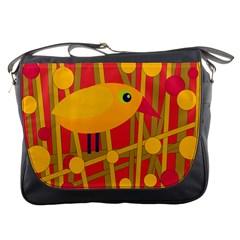 Yellow bird Messenger Bags